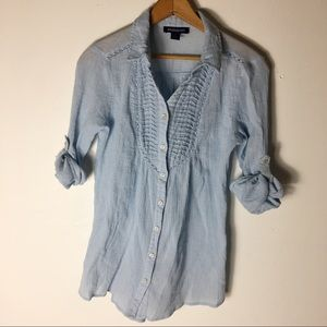 Bandolino Blue  small Ridded Casual Tunic Top